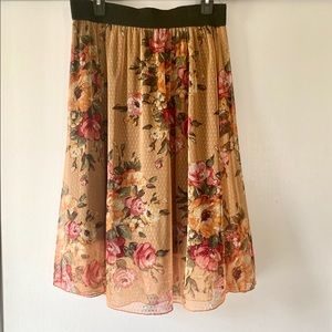Lularoe Lola Floral Skirt
